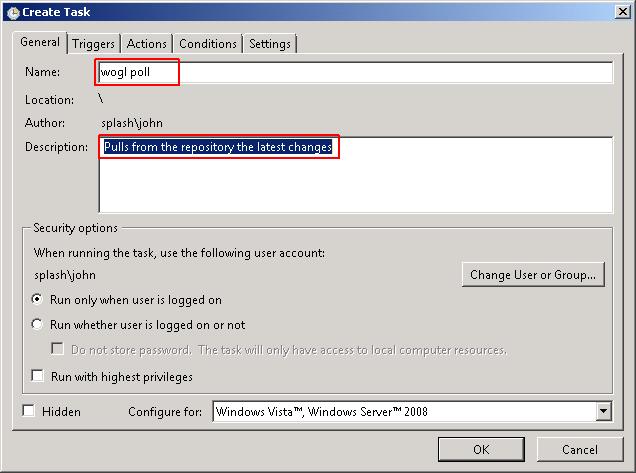 Automatic Git polling on windows - ViSLAB